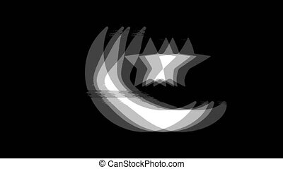 Eid Islamic icon Vintage Twitched Bad Signal Animation. -...