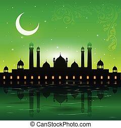Eid Mubarak background - easy to edit vector illustration of...