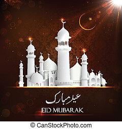 Eid Mubarak Background - illustration of Eid Mubarak...
