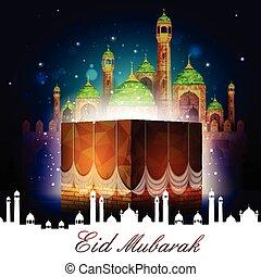 Eid Mubarak background - vector illustration of Eid Mubarak...