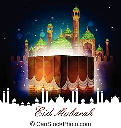 Eid Mubarak background - vector illustration of Eid Mubarak...