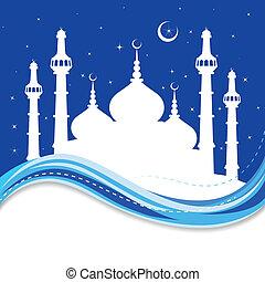 Eid Mubarak ( Blessing for Eid) background - vector...