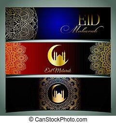 eid, mubarak, cabeçalhos