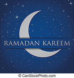"Eid Mubarak - Silver crescent moon ""Eid Mubarak"" (Blessed..."