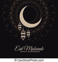 eid mubarak dark decorative background