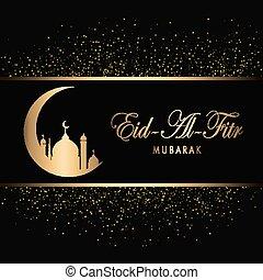 Eid Mubarak Design Background. Vector Illustration for...
