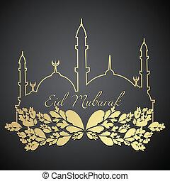 eid mubarak design - stylish eid mubarak design illustration