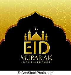 eid mubarak festival greeting background design