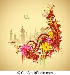 Eid Mubarak (Happy Eid) background - illustration of Ramadan...