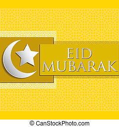 "Eid Mubarak! - Bright ""Eid Mubarak"" (Blessed Eid) card in..."