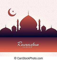 eid mubarak mosque silhouette background