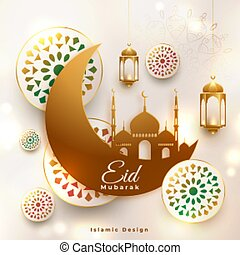 eid mubarak religious islamic background design