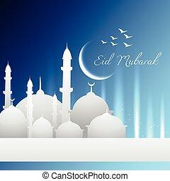 eid mubarak vector design illustration