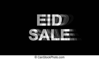 Eid Sale Glitch Effect Text Digital TV Distortion 4K Loop...