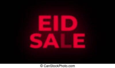 Eid Sale Text Flickering Display Promotional Loop. - Eid...