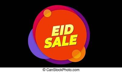 Eid Sale Text Sticker Colorful Sale Popup Animation. - Eid...