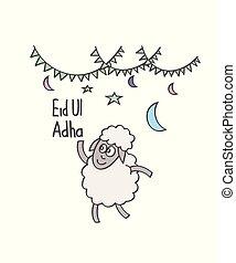 Eid ul adha cartoon, doodle, sheep - Eid ul adha cartoon...