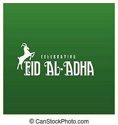 Eid Ul Adha mubarak card with creative design vector
