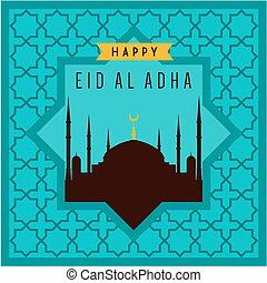 Eid-ul-adha mubarak greeting card