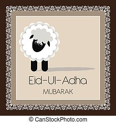 eid ul adha mubarak greeting card