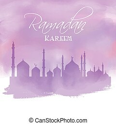 Eid watercolor background