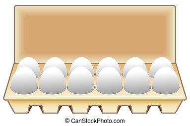 eier, dutzend