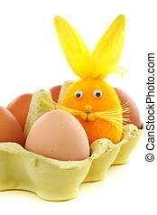 Eier, kasten, Ostern, kaninchen