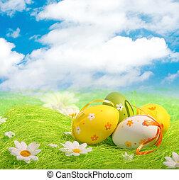 eier, ostern, bunte