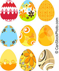 eier, ostern, retro