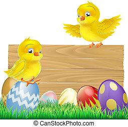eier, ostern, zeichen, freigestellt