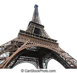 Eiffeil Tour - Curves of the famous Eiffel Tower of Paris ...