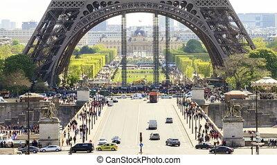 Eiffel base Timelapse - Beautiful full HD timelapse of the...