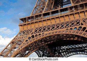 eiffel emelkedik, párizs, franciaország