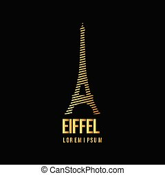 Eiffel Logo Vector Template Design Illustration