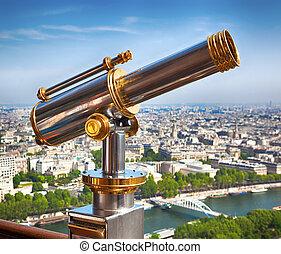 eiffel ohromný, dalekohled
