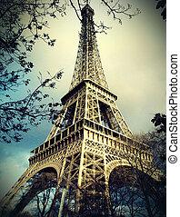 eiffel ohromný, do, paříž