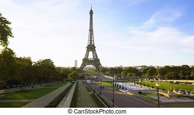 eiffel tour and from Trocadero, Paris - Eiffel Tower and...