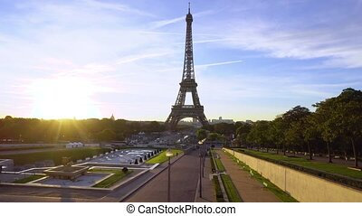 eiffel tour and from Trocadero, Paris - Eiffel Tower from...
