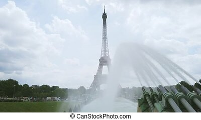eiffel tour and from Trocadero, Paris - view of Eiffel Tower...