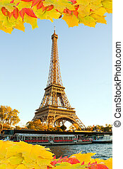 eiffel tour  in fall,  Paris