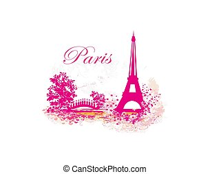 Eiffel tower abstract card