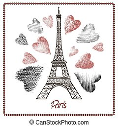 Eiffel tower and heart