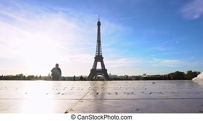 Eiffel Tower and Paris cityscape - view of Eiffel Tower from...