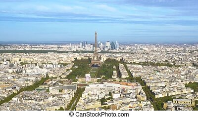 Eiffel Tower and Paris cityscape - view of Eiffel Tower...