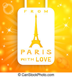 Eiffel tower applique background. Vector illustration