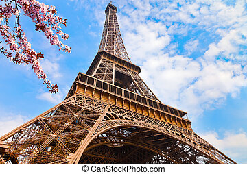 Eiffel Tower at spring