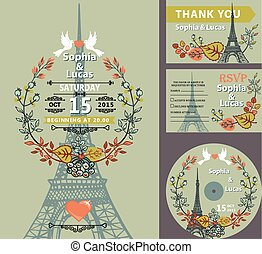 Eiffel tower autumn leaves wreath