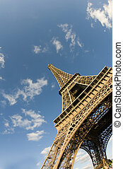 eiffel tower base with angle view