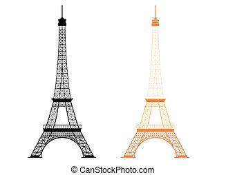 Eiffel tower - famous monument in Paris, France