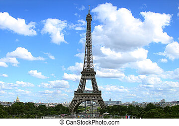 Far View of the Eiffel Tower